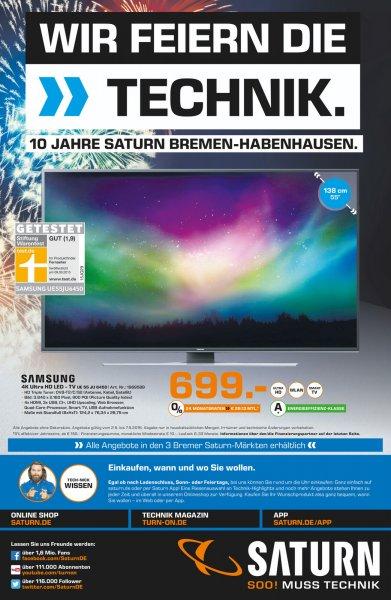[LOKAL -Saturn Bremen] 10 Jahre Saturn Habenhausen - Samsung UE55JU6450 für 699€, Sonos Sub / Playbar für je 679€