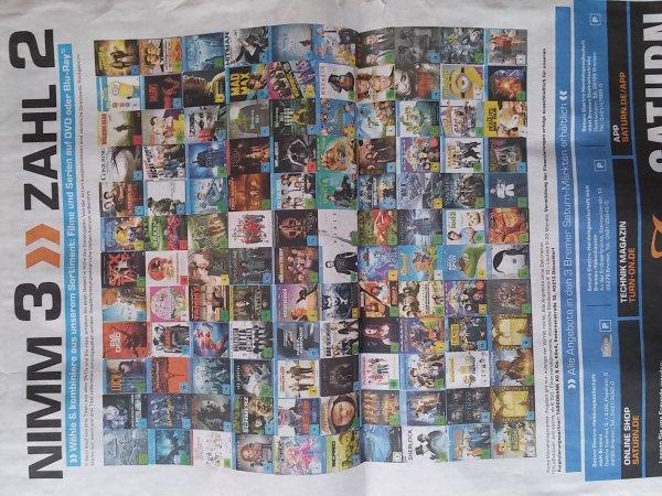 @Saturn Bremen Nimm 3 Zahl 2 auf alle Filme und Serien