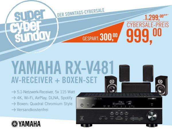 (Cyberport) CyberSale Yamaha RX-V481 5.1 AV-Receiver + Quadral Chromium Style 5.1 Lautsprecher (ca. 250€ gespart)