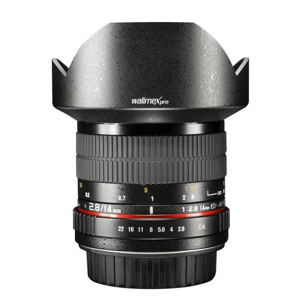 Walimex Pro 14 mm 1:2,8 für Pentax Q und Canon EF für 188,58 € bei amazon