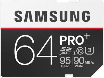 Samsung microSDXC-Karte 64 GB PRO Plus Class 10, UHS-I, UHS-Class 3 (+ Fan Kopfhörer für 0,01EUR)