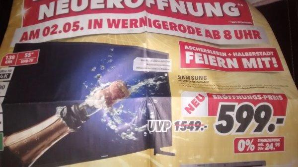 [lokal] Medimax Aschersleben, Wernigerode, Halberstadt - Samsung UE55JU6050 für 599€ (idealo ab 729€)