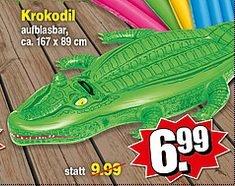 Krokodil, aufblasbar. Bei REPO für €6,99