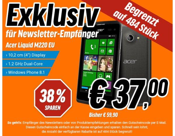 Notebooksbilliger Acer Liquid M220 schwarz EU  39,99