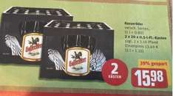 [Rewe Berlin] Zwei Kisten Hasseröder Bier 0,5l für 15,98 Euro (7,99 Euro pro Kiste)