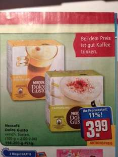 nescafe dolce gusto kapseln im rewe versch sorten. Black Bedroom Furniture Sets. Home Design Ideas