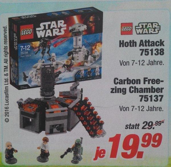 Lego Star Wars Hoth Attack und Carbon Freezing Chamber für je 19,99€ bei Rofu