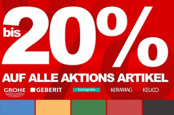 10% bis 30% extra Rabatt auf einzelne Sanitärartikel - WC´s - Bidets - Handbrausen - Armaturen @ [miti24.de]