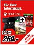 [Mediamarkt] Microsoft Xbox One 500GB (matt) + Forza: Horizon 2 + NBA2k2016 für 269,-€