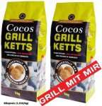 [allyouneed] Cocos Grill Briketts, ökologische Grillkohle-Briketts, aus Kokosnussschalen, 6kg (1,49/kg)