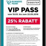 25% bei Runnerspoint vom 19-22 Mai