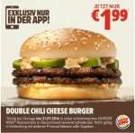Double Chilli Cheese Burger 1,99 [Burger King]