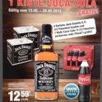 Jack Danielx27s für 14,98 bei der Metro (12 Flaschen Mindestabnahme) + 1 Kiste Cola Gratis