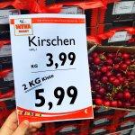 2 kg Kirschen für 5,99 € | Wiva Lebensmittel Bielefeld