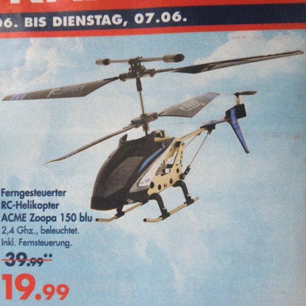 Karstadt (offline): ACME RC-Helikopter Zoopa 150 blu für 19,99€ (nächster idealo 32,92€)