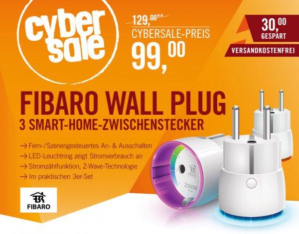 [cyberport] 3er Set Fibaro Z-Wave Zwischenstecker statt EUR 49 nur EUR 33/Stück