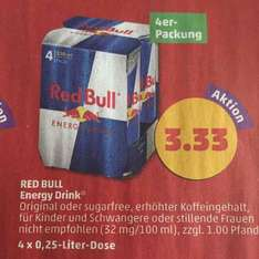 Red Bull 0,25L Dose für 0,83€ bei Penny