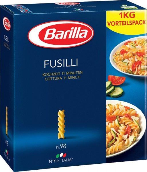 Amazon Prime : Barilla Fusilli n. 98, 6er Pack (6 x 1 kg) - Nur 8,24 €
