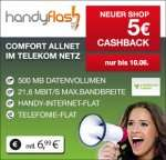 Mobilcom-Debitel Telekom Comfort Allnet für 6,99€ monatlich + 5€ Cashback