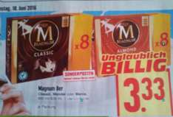 [EDEKA Hessen, eventuell Bundesweit?] - 8er Packung Magnum Classic, Mandel oder Magnum Mania