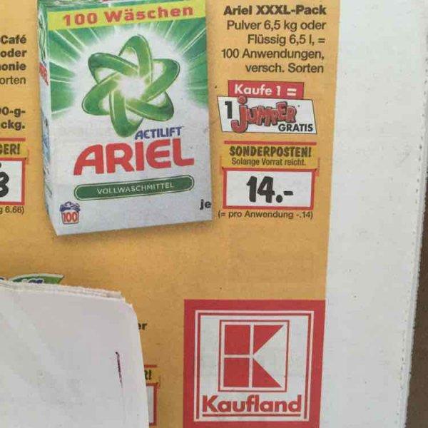 (Bundesweit? Kaufland Leipzig) Ariel 100 WL