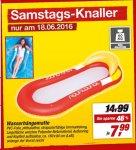 [Rossmann+TOOM] Wasserhängematte 7,99€ ab Mo. / Toom nur am 18.6.