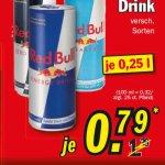 Red Bull für 0,79€ bei Zimmermann 250 ml Dose
