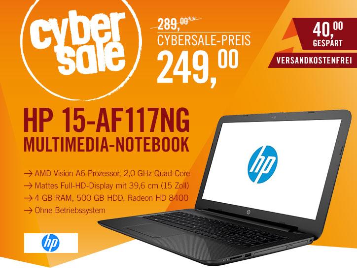 """HP 15-af117ng für 249€@ Cyberport - 15,6"""" FullHD Einsteigernotebook"""