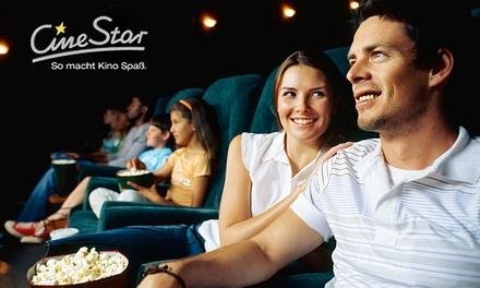 5-mal ins Kino für nur 15 € - Kinotickets von Cinestar durch Gutscheincode sehr günstig bei Groupon