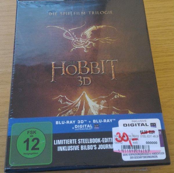 [Lokal Neu-Ulm] MediaMarkt: Der Hobbit Trilogie 3D (Steel Edition inkl. Bilbos Journal) 30€. bzw. nur 2D 20€