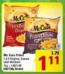 [Marktkauf]  McCain Frites Deluxe 600g für 1,11 €, abzüglich 0,70€ Coupon nur 0,41 € pro Packung