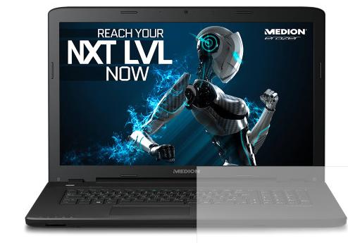 Medion Erazer P7643 für 1019€ @Medion Outlet Tage - Core i7-6500U Gaming Notebook mit 16GB Ram, 256GB SSD + 1TB HDD und GTX 950M
