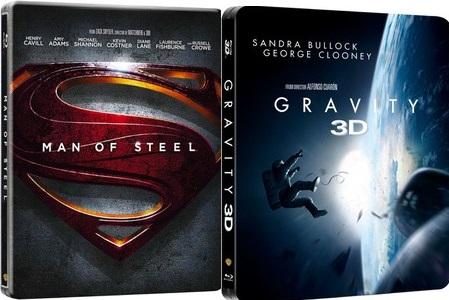 [zavvi.de] Gravity 3D - Limited Edition Steelbook / Man of Steel 3D - Limited Edition Steelbook für je 11,13€ inkl. Versand
