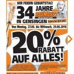 [Lokal] 20% Auf Alles Globus Baumarkt Gensingen