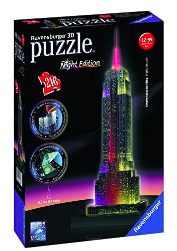 Ravensburger 3D Puzzle Night Edition, verschiedene Modelle z.B. Empire State Building für 14,98€ bei [ToysRUs und Amazon Prime] statt ca. 22€
