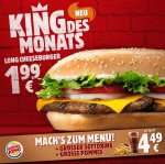 [Burger King] Long Cheeseburger für 1,99 €