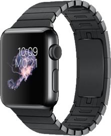 Großer Apple Watch Rausverkauf bei Talkthisway (Neuware!): Z.B. Apple Watch mit Sportarmband, Aluminiumgehäuse, 38mm, silber-blau (MLCG2FD/A) für 285,50 €