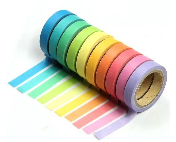 [Amazon] 10x Regenbogen Washi Tape / Klebeband für 1,50€, versandkostenfrei für alle