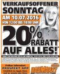 [Lokal] 20 % Rabatt auf alles im Globus Baumarkt Dietzenbach (63128) am 10.07.16