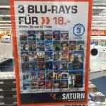3 Blu-Rays für 18€ bei Saturn Regensburg