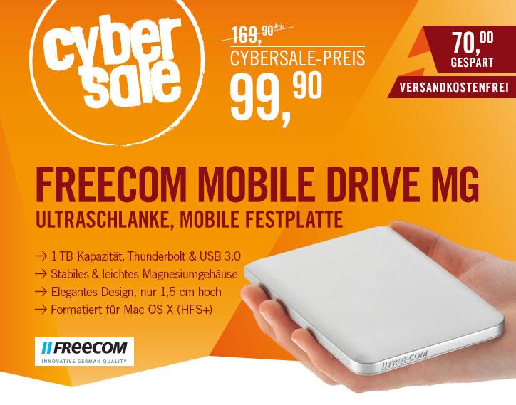 Freecom Mobile Drive Mg Thunderbolt 1TB für 99,90€ @ Cyberport - Thunderbolt-Gehäuse mit 1TB HDD für den Mac (günstigste Möglichkeit einen Mac mit SSD auszustatten + Anleitung)