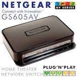 Netgear GS605AV Home Theater Network 5-Port Gigabit Switch