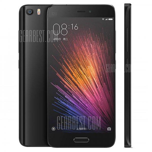 """Xiaomi MI5 Smartphone 5,15"""" 64GB Speicher, 3GB Ram, schwarz, Snapdragon 820,Quadcore für 365,24€ @Gearbest.com"""