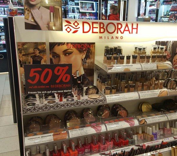 Budni in Geesthacht verkauft alle Deborah Artikel für die Hälfte