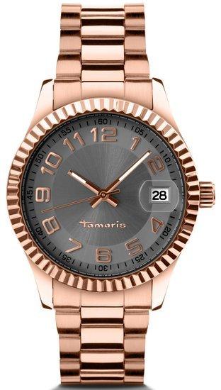 Tamaris Damen-Armbanduhr Debby Analog Quarz Edelstahl B07202030  40,31€