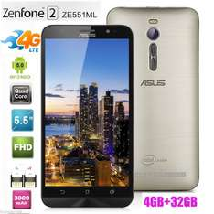 [ebay] Asus ZE551ML-6G395WW Zenfone 2 Smartphone (14 cm (5,5 Zoll), IPS, 32GB, 1920x1080 Pixel, 13,5 Megapixel, Android 6) gold (Ohne LTE Band 7/20)