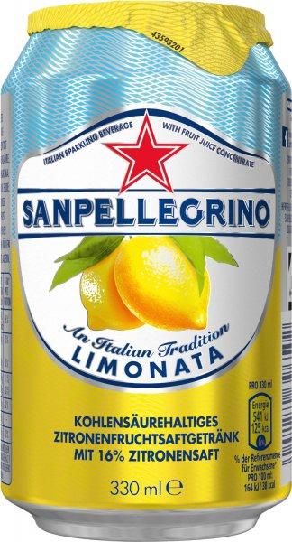 [AMAZON Prime] San Pellegrino Limonata, 24er Pack, Einweg (24 x 330 ml) - 17,33 + 6€ Pfand