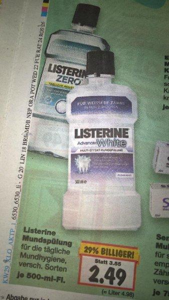 Listerine verschiedene Sorten nur 2,49€ evtl. Bundesweit