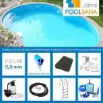 Achtform-Poolset 6,25x3,60m bei Poolsana