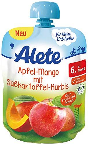 Alete Apfel-Mango mit Süßkartoffel + Kürbis Quetschies 10 Stück für 5,61€ im [Amazon Sparabo] statt ca. 10€